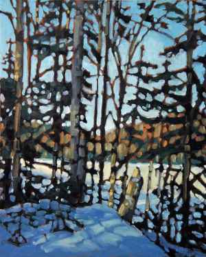 Parc du Mont Tremblant 5, <span class='en'>oil on canvas,</span> <span class='fr'>huile sur toile,</span> 20<span class='en'>in</span><span class='fr'>po</span> x 16<span class='en'>in</span><span class='fr'>po</span> (<span class='en'>SOLD</span><span class='fr'>VENDU</span>)