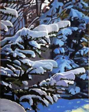 First Snow 2, <span class='en'>oil on canvas,</span> <span class='fr'>huile sur toile,</span> 30<span class='en'>in</span><span class='fr'>po</span> x 24<span class='en'>in</span><span class='fr'>po</span> (<span class='en'>SOLD</span><span class='fr'>VENDU</span>)