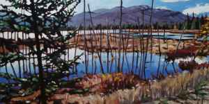 Wetlands, <span class='en'>oil on canvas,</span> <span class='fr'>huile sur toile,</span> 20<span class='en'>in</span><span class='fr'>po</span> x 40<span class='en'>in</span><span class='fr'>po</span> (<span class='en'>SOLD</span><span class='fr'>VENDU</span>)